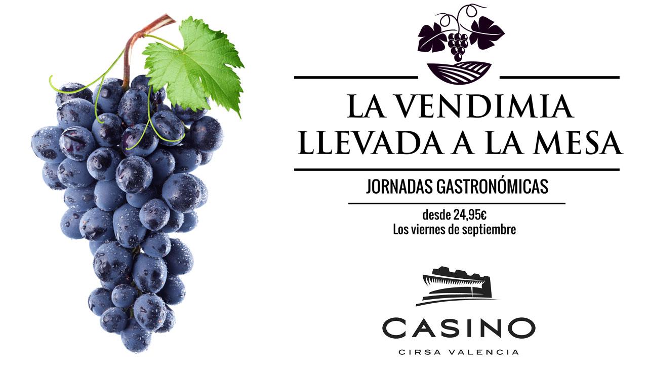 La vendimia llega a la cocina del Casino Cirsa Valencia