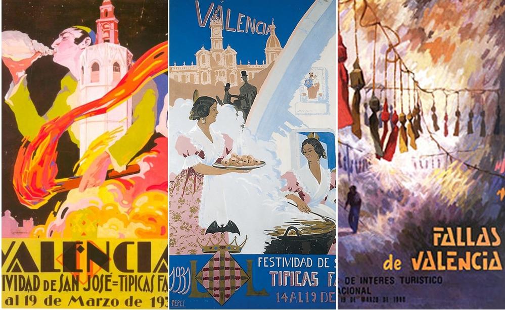 Exposición sobre la evolución de los carteles de Fallas desde 1930