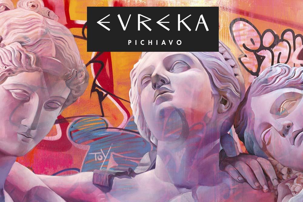 Los artistas de la falla municipal plantan 'Evreka' en el Centro del Carmen
