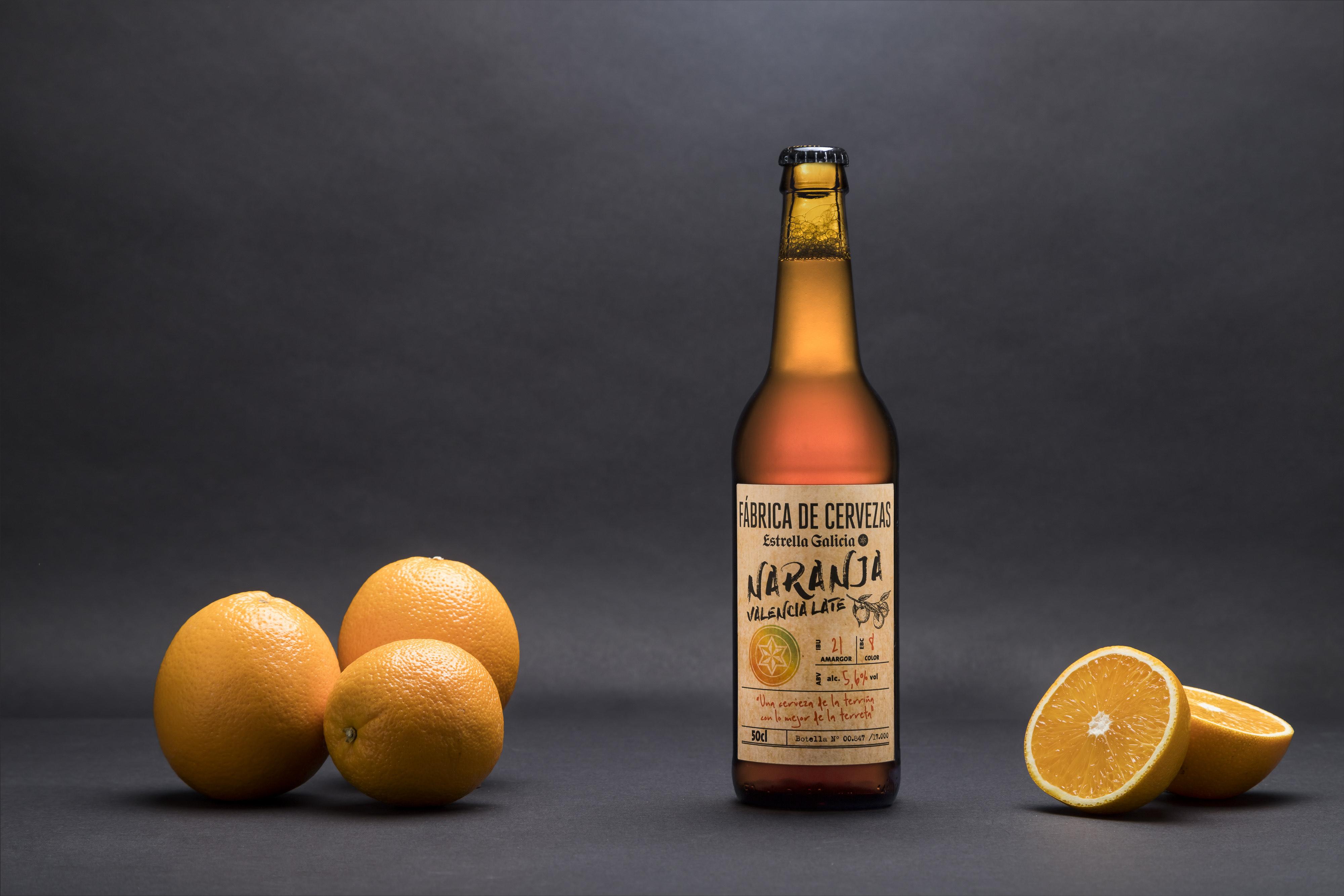 Estrella Galicia suma nuevo ingrediente: naranjas valencianas