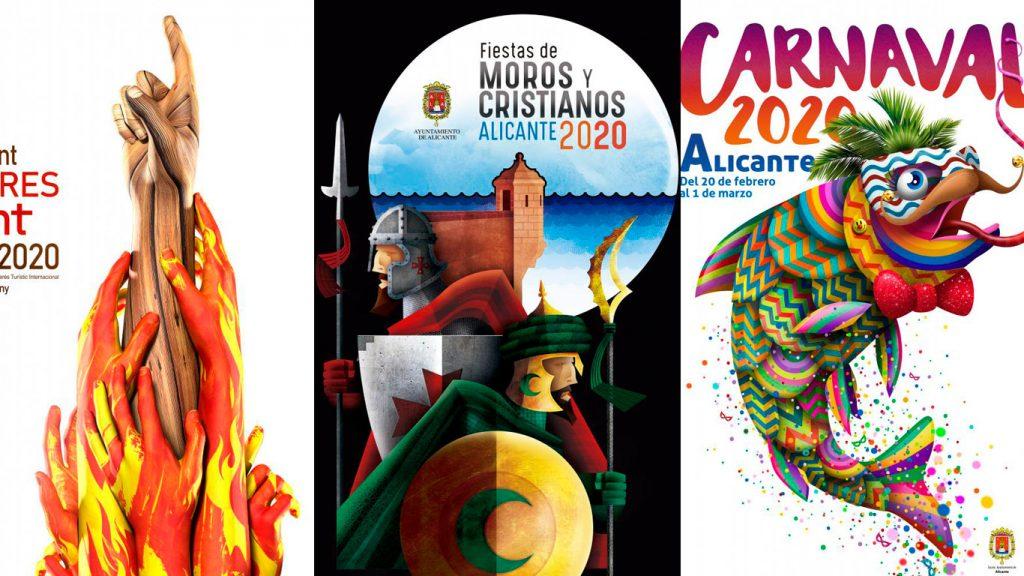 Así es el cartel anunciador de les Fogueres de Alicante 2020